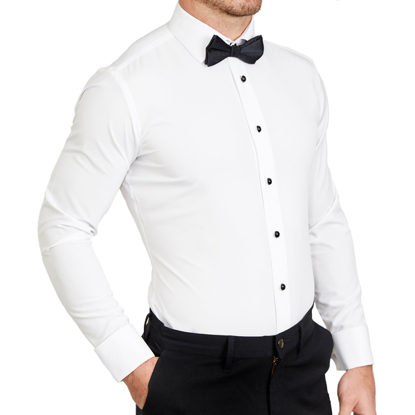 The Solid White Tuxedo Shirt (Ships in 5 Weeks)