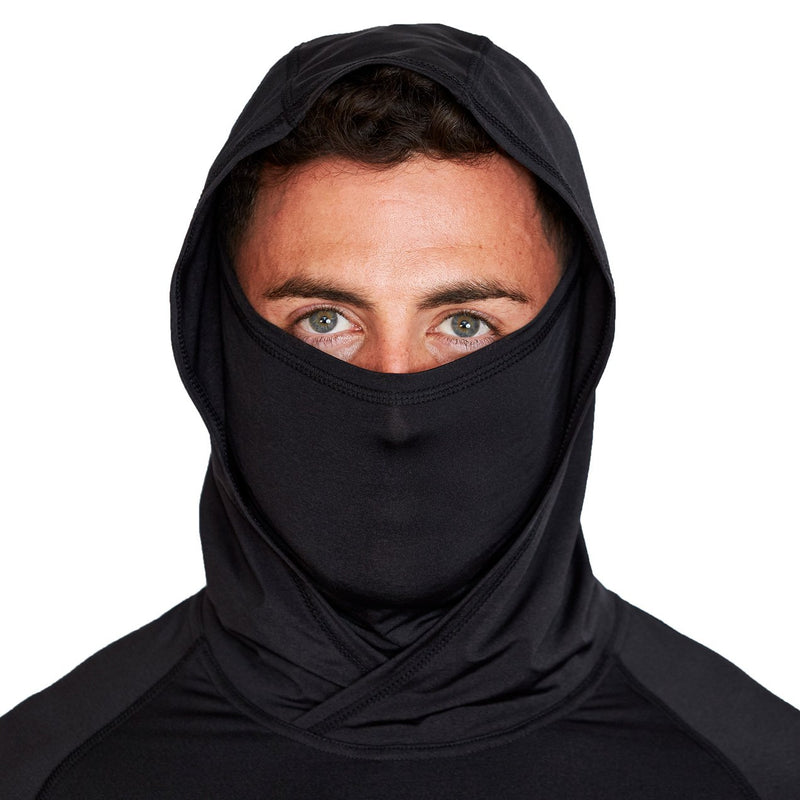 Black Tech Hoodie with Mask