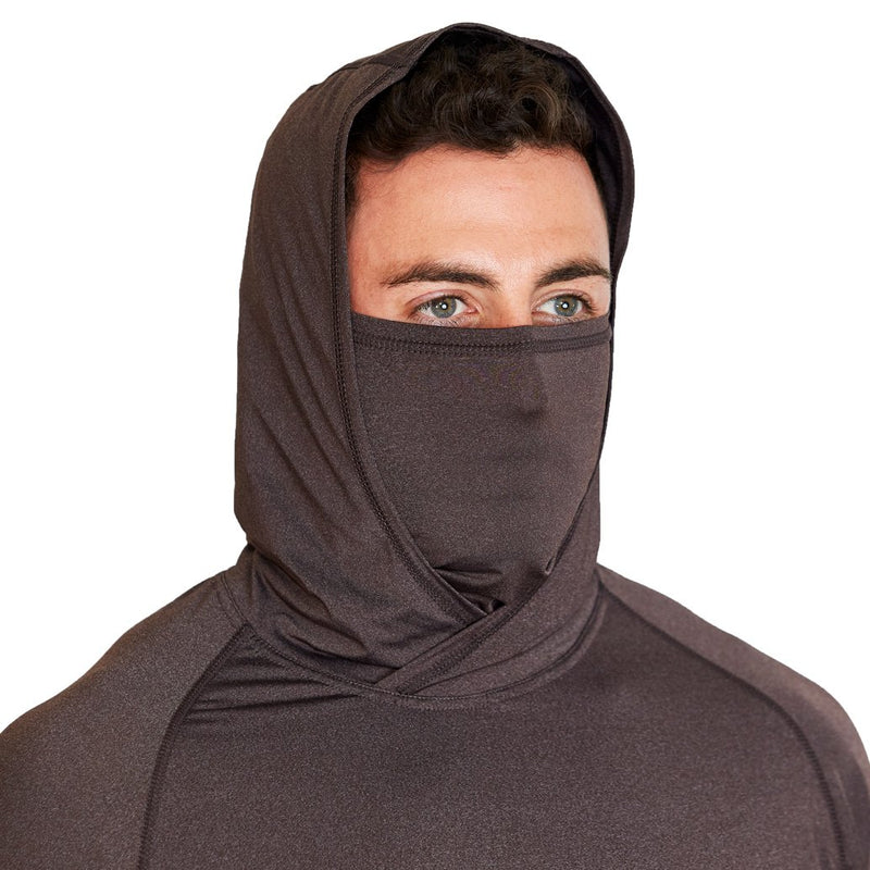 Brown Tech Hoodie with Mask