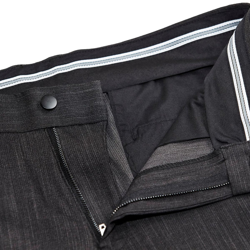 Athletic Fit Stretch Suit Pants - Heathered Charcoal