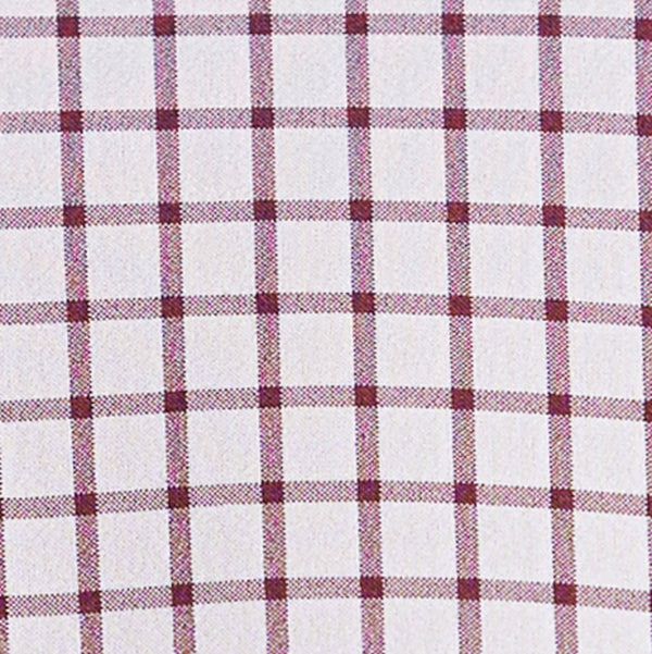 """The Maurice"" Maroon Windowpane"