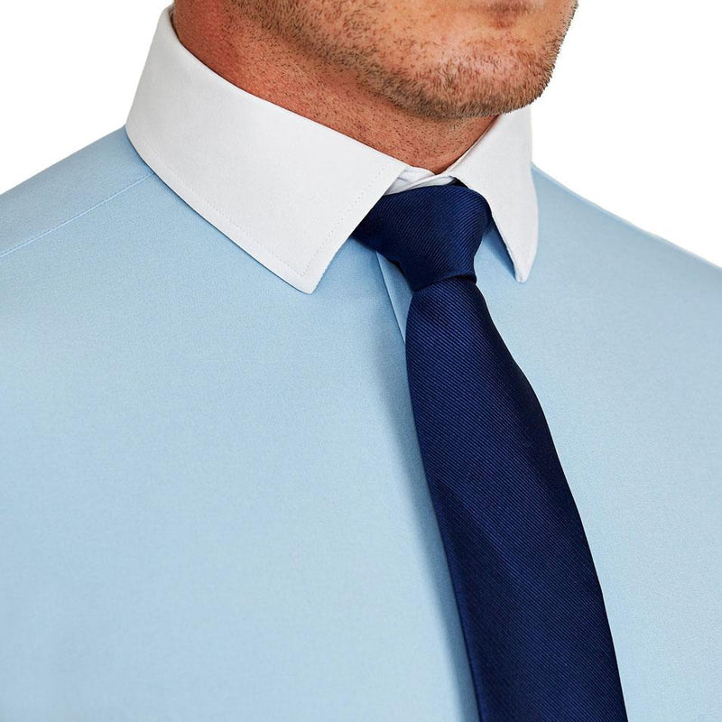 """The Clark"" Light Blue with White Collar"