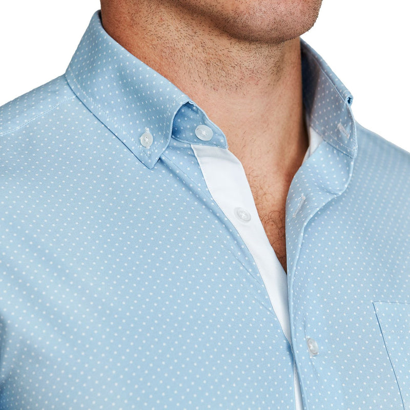"""The Venice"" Light Blue with White Dots"