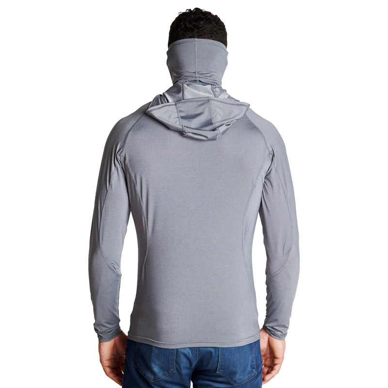 Grey Tech Hoodie with Mask