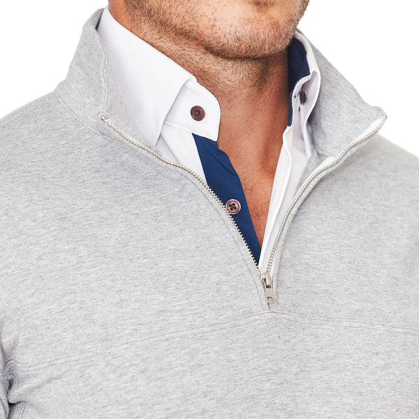 Solid Grey Quarter Zip