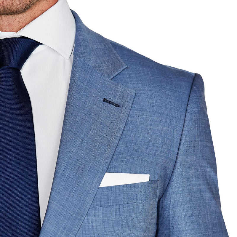 Athletic Fit Stretch Blazer - Heathered Light Blue (Ships in 5 Weeks)
