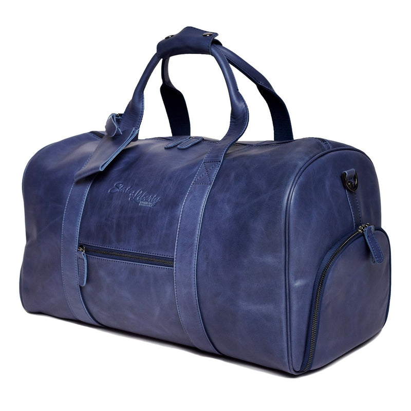 The Essential Duffel Bag - Navy Leather
