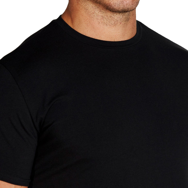 """The Westport"" Black Short Sleeve Crewneck"