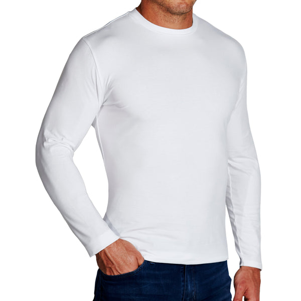 """The Middletown"" White Long Sleeve Crewneck"