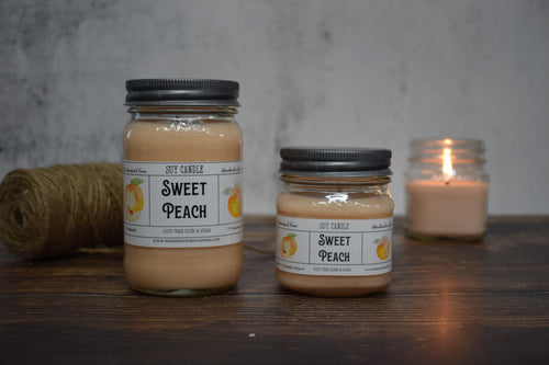 Sweet Peach Soy Candle