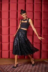Letting Go Crop Top with Waters of August Bouffant Skirt
