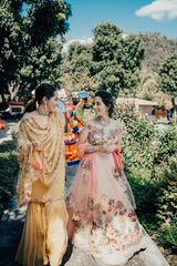 Aneesha Duggar in Our Musings From A Mural Lehenga