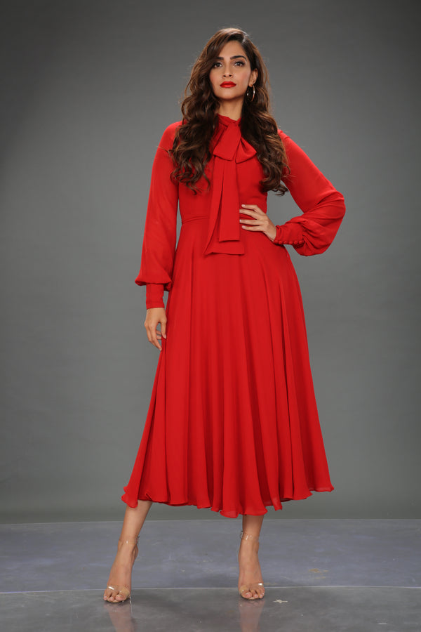 Sonam Kapoor In Midi Skater Dress