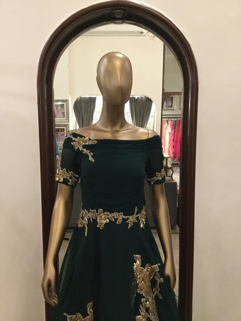 Green Parisian Aviary Gown(SALE)