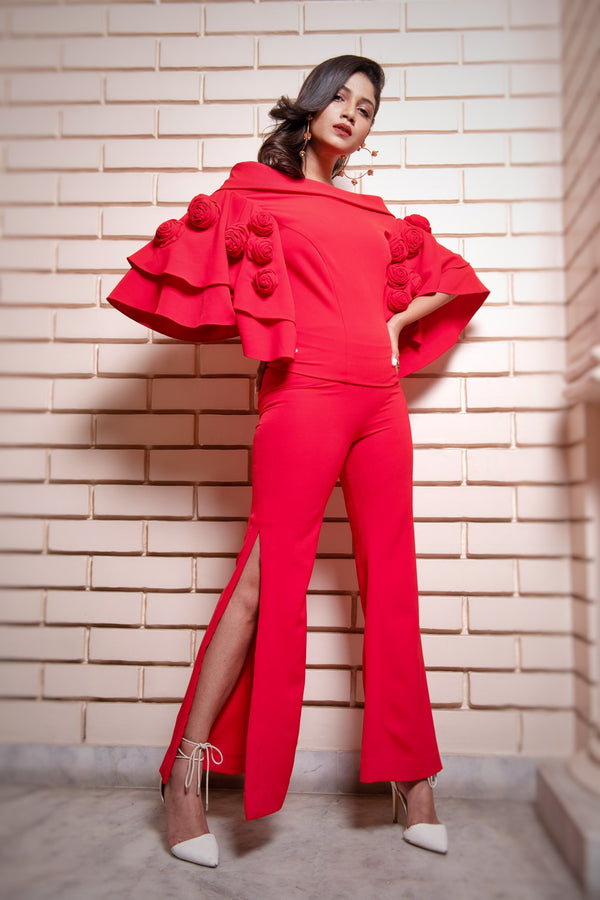 Sauraseni Maitra In Rose Susie Myerson Top and Pants