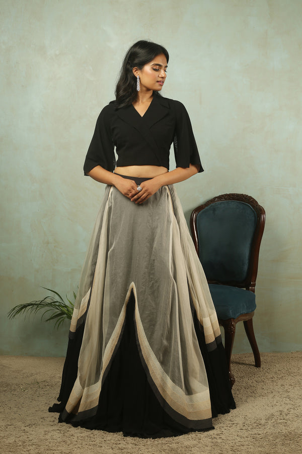 Maisel skirt with Cape Crop Top