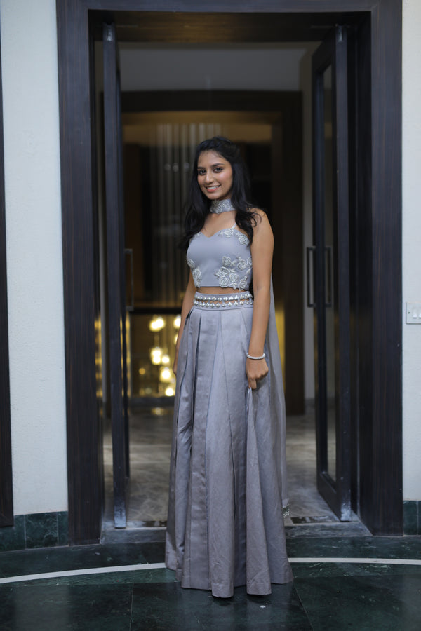 Richa in Our Heirloom Corset and Skirt