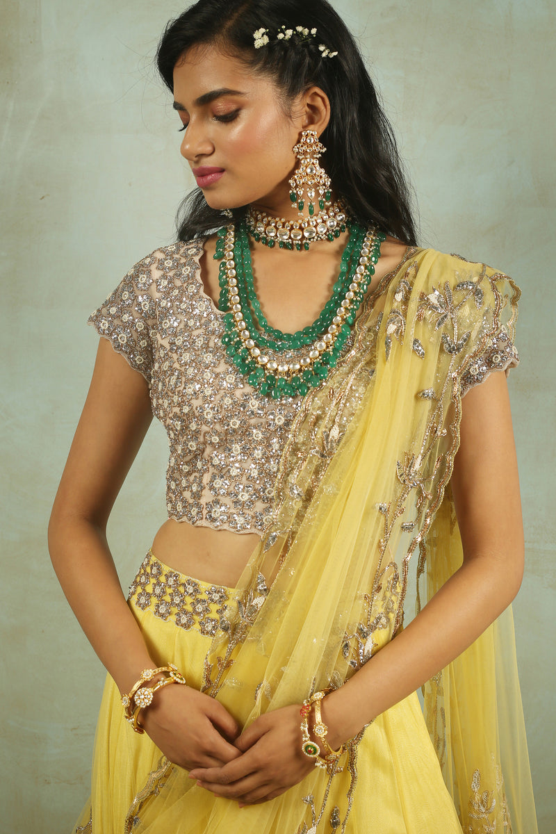 The Rajkumari Filigree Lehenga