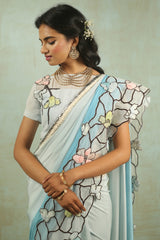 Wedgewood Stainglass Saree