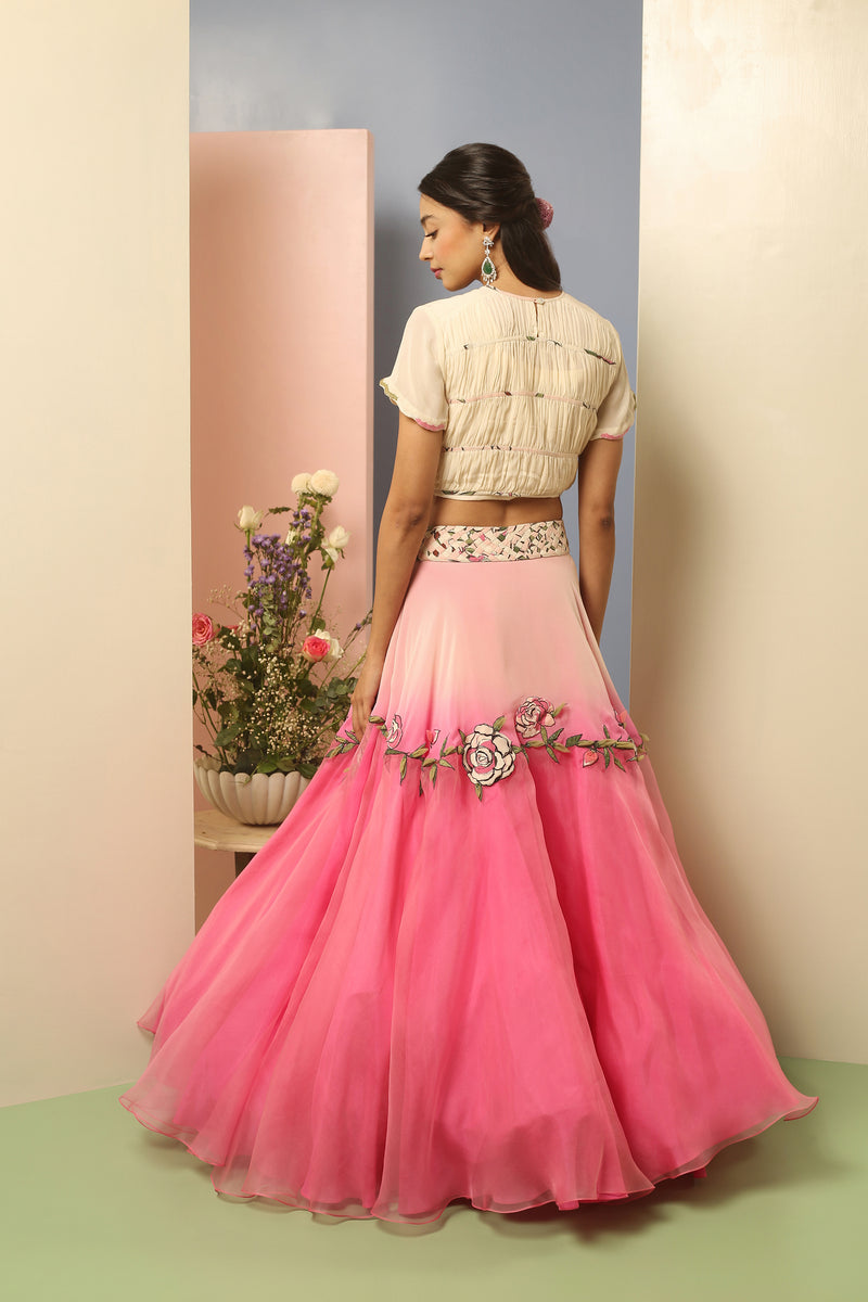 Primrose Shirred Crop top with Tutu Skirt