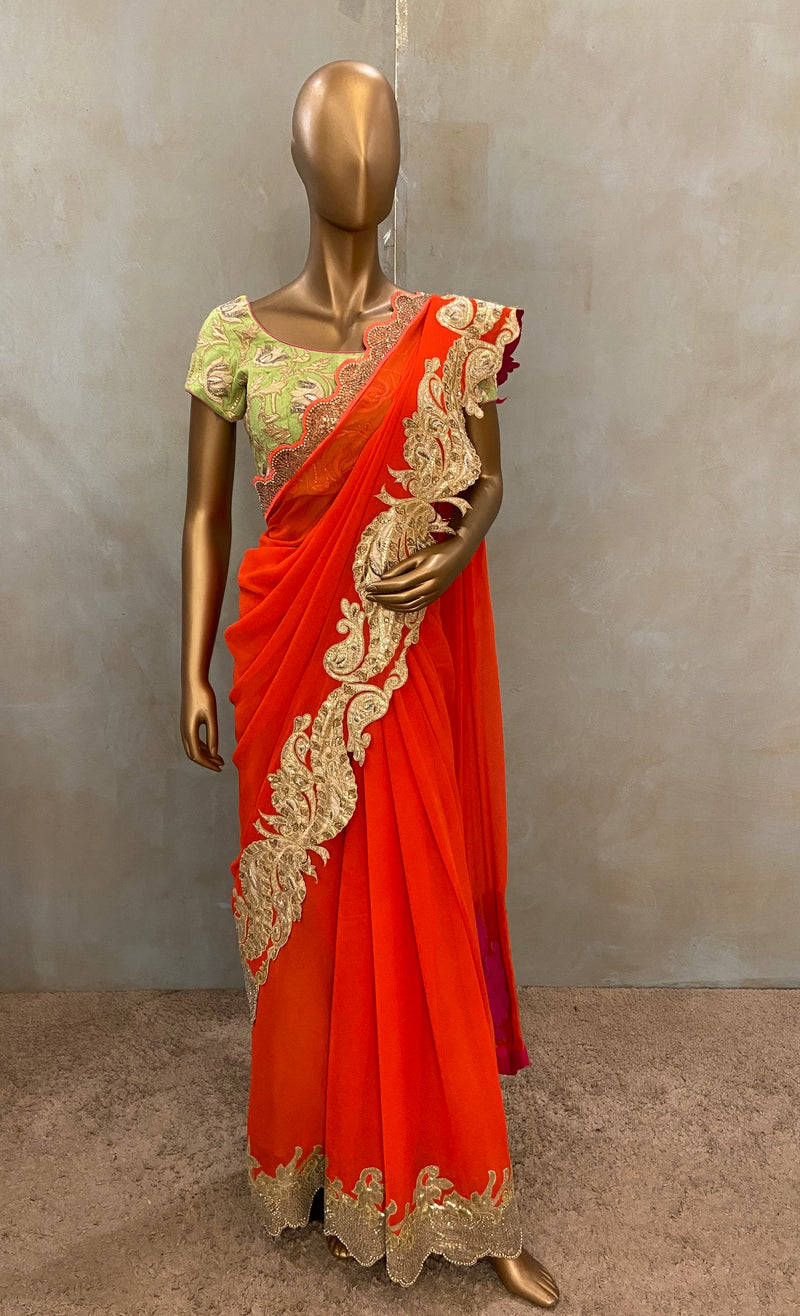 Rajkumari Peacock Saree(SALE)