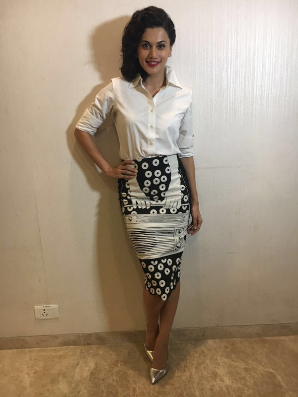 Taapsee Pannu In Half Girl Skirt