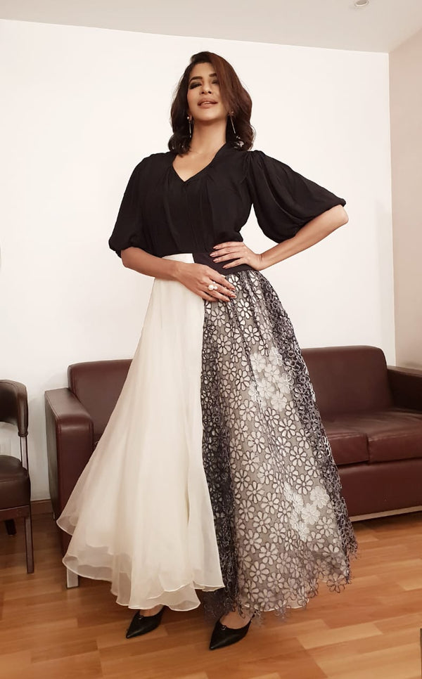 Laxmi Manchu In Betty Draper Asymmetrical Tutu Gown