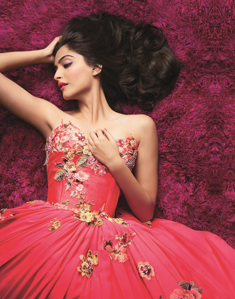 Sonam Kapoor In Musings From  Mural Gown