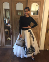 Sonam Kapoor in Iron Fairies Skirt And Crop Top