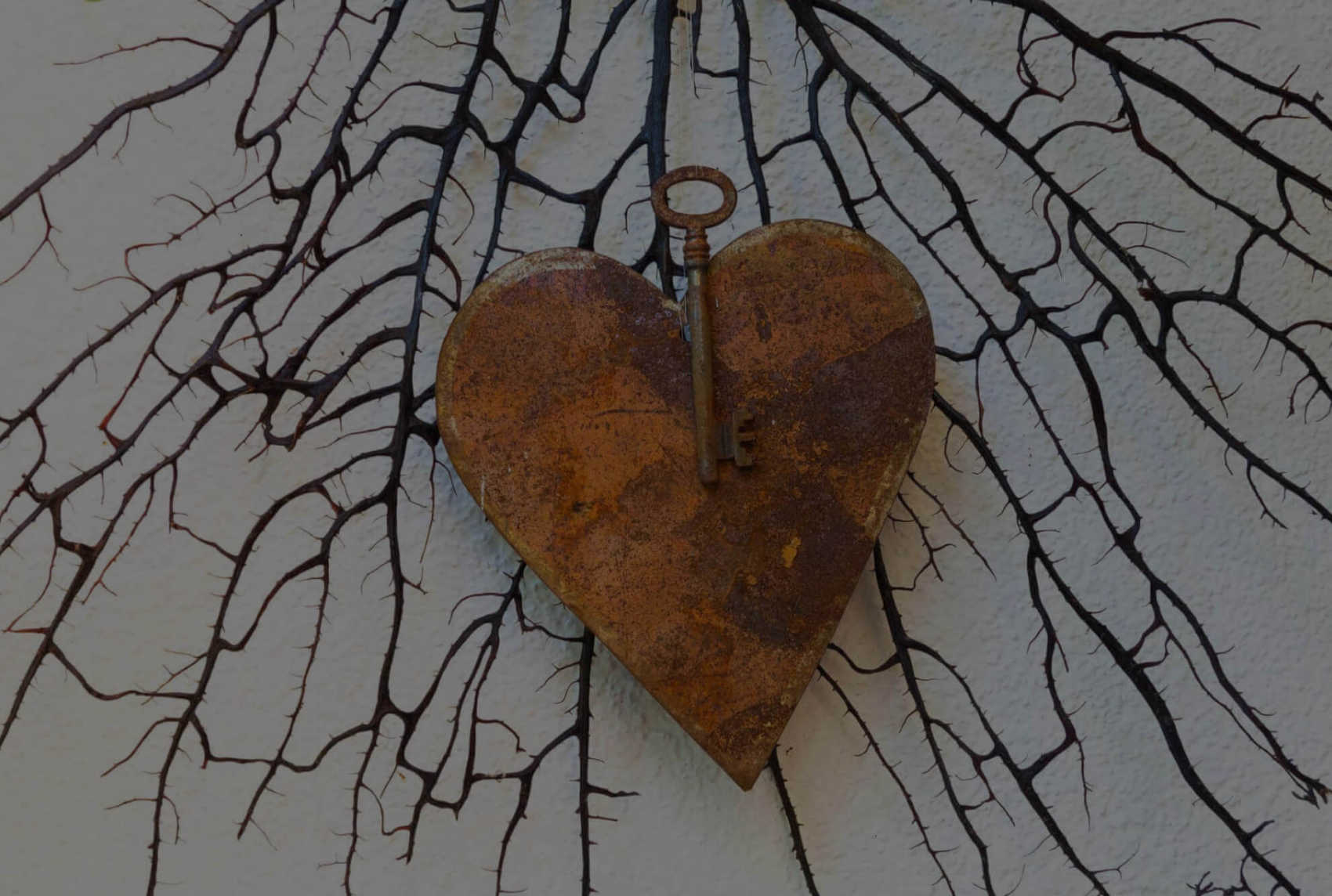 A heart with a key