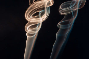 Smoke from an aromatherapy candle - arty