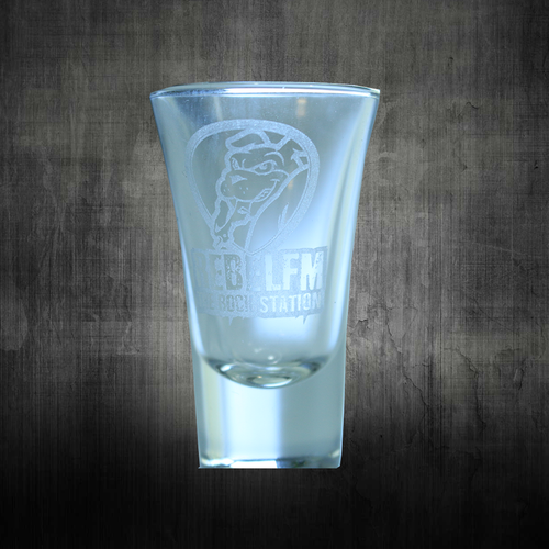 Rebel FM Shot Glass