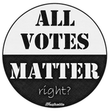 ALL VOTES MATTER ... right? Men's and women's black tees!