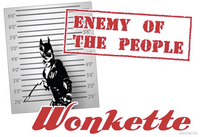 Wonkette Enemy of the People men's and women's tees/women's tanks!