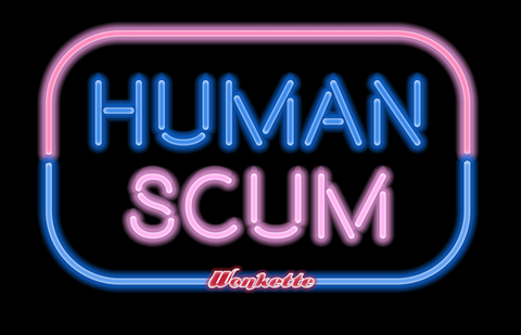 HUMAN SCUM men's and women's tees!