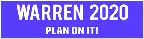 ELIZABETH WARREN bumper sticker!