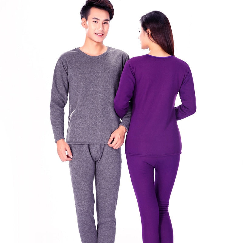 34c260e72d0f ... Winter Couple Warn Thermal Underwear Set For Women Men Layered Clothing  Cashmere Velvet Thick Thermal Long ...