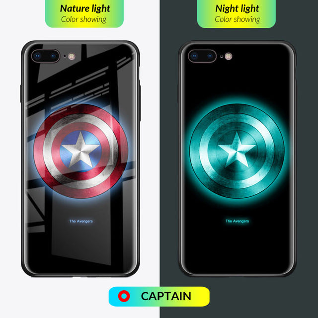 Luminous Tempered Glass Case - Captain