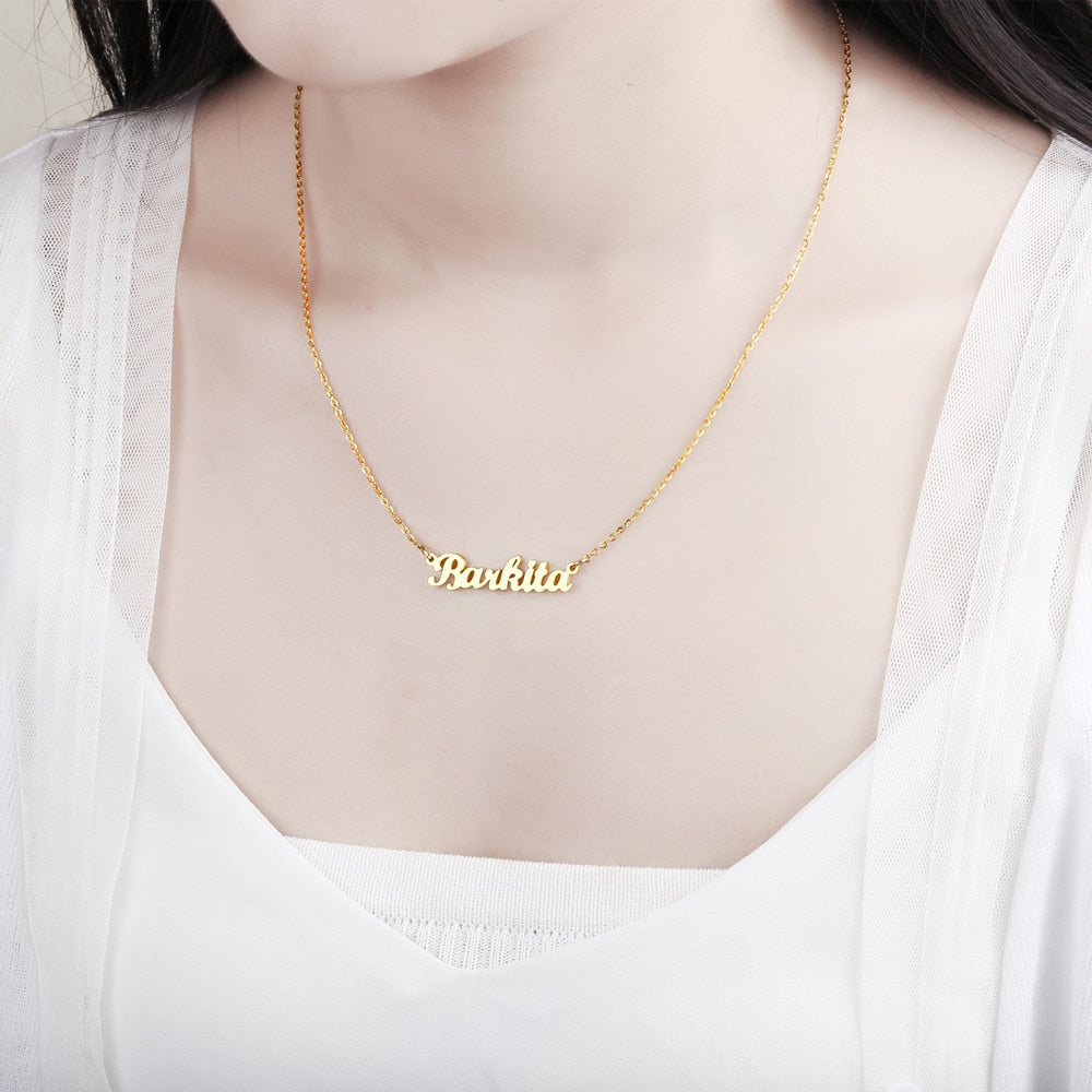 Personalized Name Necklace-Rose Gold