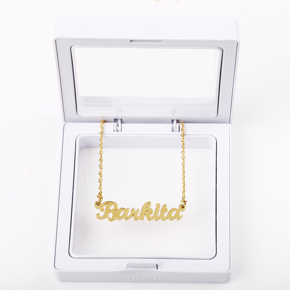 Personalized Name Necklace-Silver