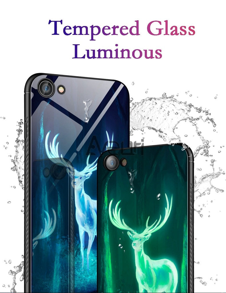 Luminous Tempered Glass Case - The Sea