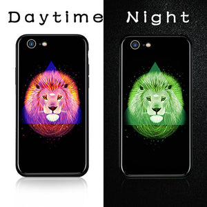 Luminous Tempered Glass Case - Lion