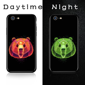 Luminous Tempered Glass Case - Bear