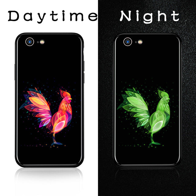Luminous Tempered Glass Case - Chicken