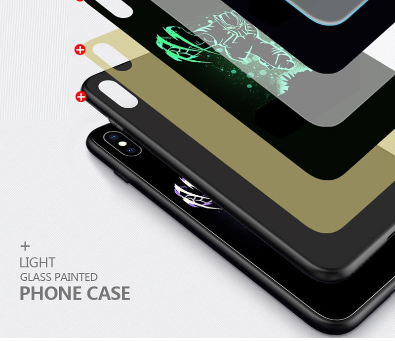 Luminous Tempered Glass Case - Iron