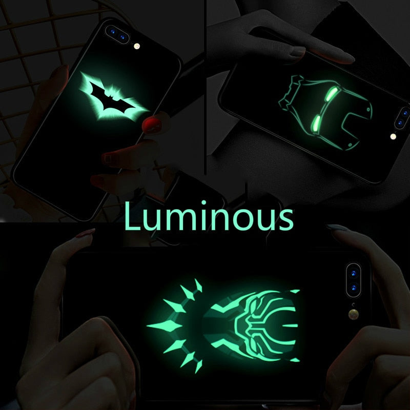 Luminous Tempered Glass Case - Wolf