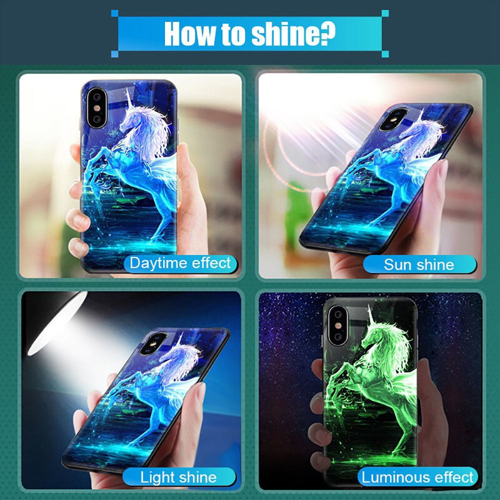 Luminous Tempered Glass Case - Don Lion