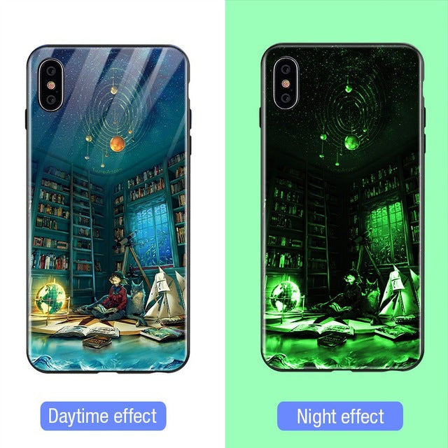 Luminous Tempered Glass Case - Night Time