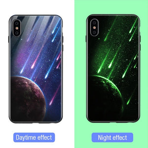 Luminous Tempered Glass Case - Meteor Shower