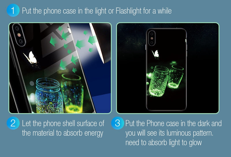 Luminous Tempered Glass Case - Reach